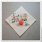 Подарки к праздникам ручной работы. Ярмарка Мастеров - ручная работа Пасхальная салфетка 4. Handmade.