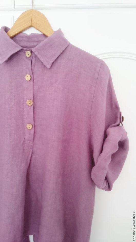 Блузки ручной работы. Ярмарка Мастеров - ручная работа. Купить Блуза Лавандин, лен 100%. Handmade. Лето, бохо, прованс