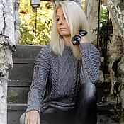 "Одежда handmade. Livemaster - original item Knitted sweater ""Graphite"". Handmade."