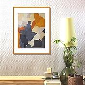 Картины и панно ручной работы. Ярмарка Мастеров - ручная работа Картина Абстракция Маслом  на холсте в рыжих апельсиновых оранжевых. Handmade.