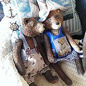 Куклы и игрушки ручной работы. Ярмарка Мастеров - ручная работа Мишка в морских штанишках %. Handmade.