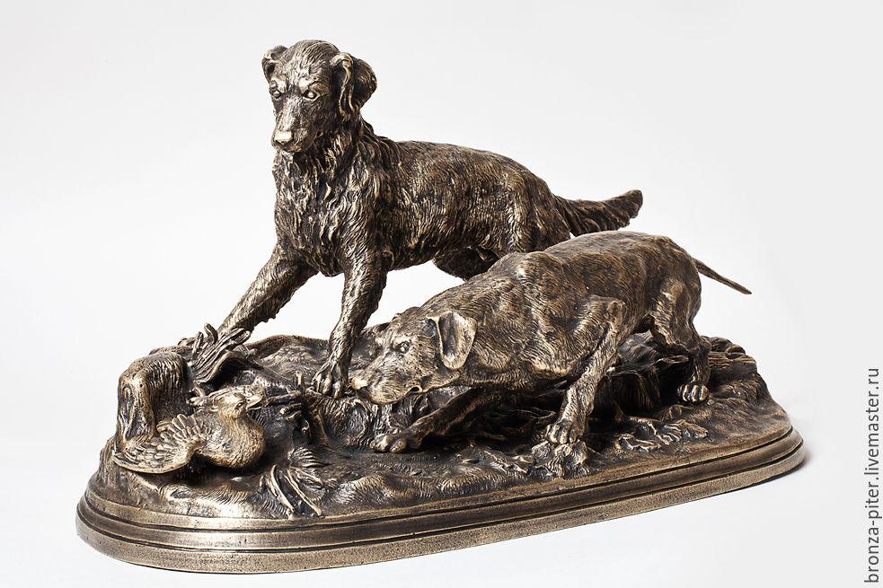 Hunting bronze composition, Sculpture, St. Petersburg,  Фото №1