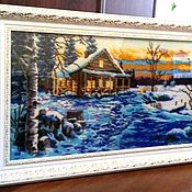 Картины и панно handmade. Livemaster - original item Winter evening. Handmade.
