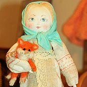 Куклы и игрушки ручной работы. Ярмарка Мастеров - ручная работа Девочка с котом. Handmade.