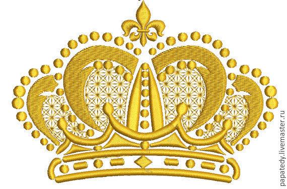 королевская корона дизайн машинной вышивки, Иллюстрации, Кишинев,  Фото №1