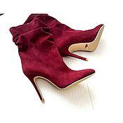 """Обувь ручной работы. Ярмарка Мастеров - ручная работа Полусапожки """"Марсала"""". Handmade."""