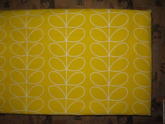 Шитье ручной работы. Ярмарка Мастеров - ручная работа. Купить Ткань хлопок Желтые листья . Сатин. 100% Хлопок. Handmade.