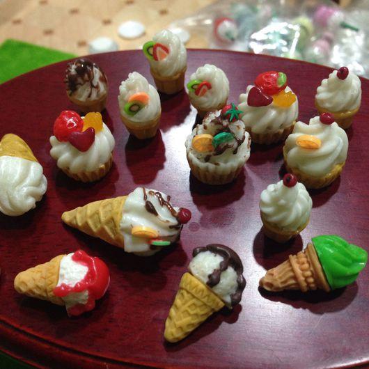 Куклы и игрушки ручной работы. Ярмарка Мастеров - ручная работа. Купить миниатюра Мороженое. Handmade. Ручная работа, мороженое