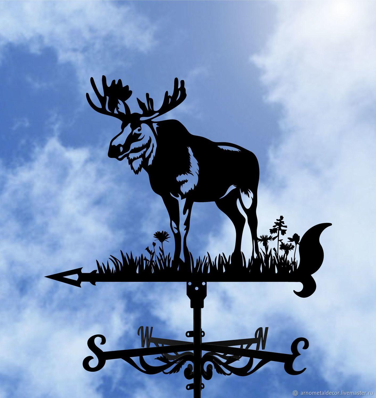 Weather vane on the roof ' Moose', Vane, Ivanovo,  Фото №1