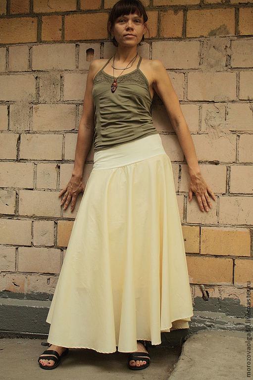 Длинная юбка струящаяся