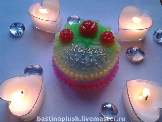 """Мыло ручной работы. Ярмарка Мастеров - ручная работа. Купить Мыло """"Happy Birthday"""". Handmade. Торт, happy birthday"""