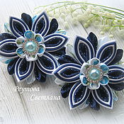 Работы для детей, handmade. Livemaster - original item Hair bands School time 9 in the technique of kanzashi. Handmade.