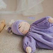 """Куклы и игрушки handmade. Livemaster - original item Scops Owl """"Lilac Sleeper"""" - Waldorf doll. Handmade."""