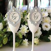 Свадебный салон ручной работы. Ярмарка Мастеров - ручная работа Бокалы свадебные. Handmade.