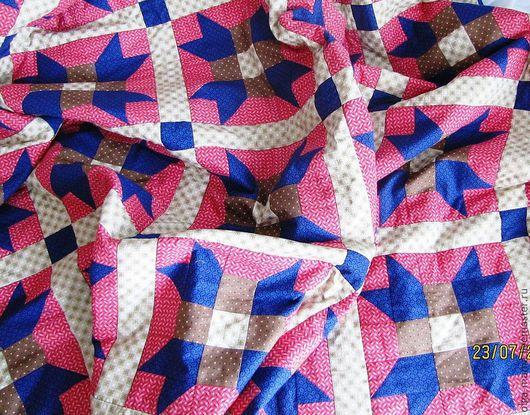 Текстиль, ковры ручной работы. Ярмарка Мастеров - ручная работа. Купить Лоскутное одеяло. Handmade. Бордовый