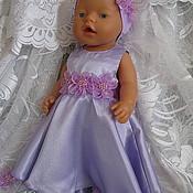 """Куклы и игрушки ручной работы. Ярмарка Мастеров - ручная работа Платье для БебиБона """"Лавандовая принцесса"""". Handmade."""