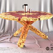 """Столы ручной работы. Ярмарка Мастеров - ручная работа Журнальный столик """"Костер"""" светлый. Handmade."""