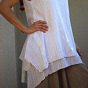 Одежда ручной работы. Ярмарка Мастеров - ручная работа Бохо Туника из тонкого хлопка. Handmade.