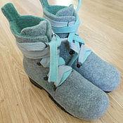 """Обувь ручной работы. Ярмарка Мастеров - ручная работа Ботинки """"Много зелёного"""". Handmade."""