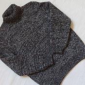 Работы для детей, ручной работы. Ярмарка Мастеров - ручная работа Меланжевый свитер для мальчика (меринос и кашемир). Handmade.
