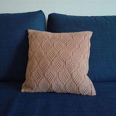 Textiles handmade. Livemaster - original item Knitted cover for decorative pillow