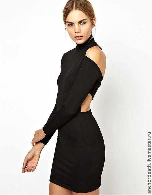 Платья ручной работы. Ярмарка Мастеров - ручная работа. Купить Ассиметричное легкое черное платье.. Handmade. Черный, платье вечернее