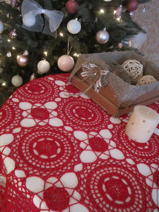 Текстиль, ковры ручной работы. Ярмарка Мастеров - ручная работа. Купить Скатерть № 21. Handmade. Ярко-красный