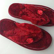 Обувь ручной работы handmade. Livemaster - original item Flip flops from Mouton