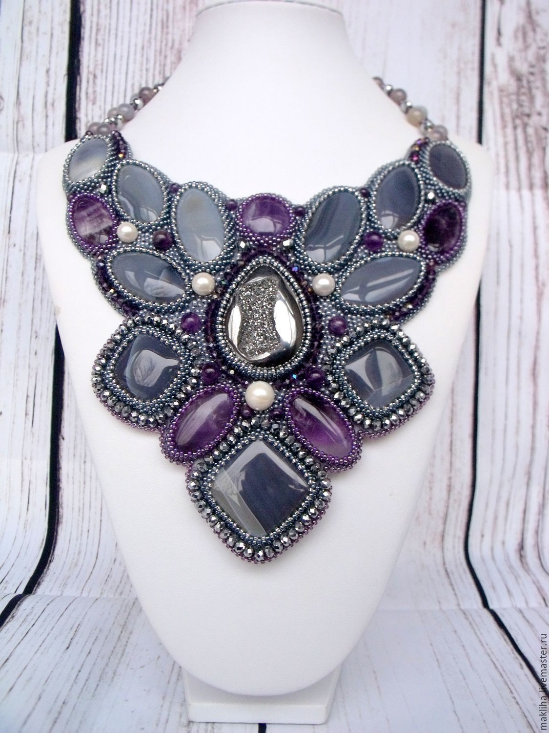 Necklace and bracelet 'Purple haze', Jewelry Sets, Moscow,  Фото №1