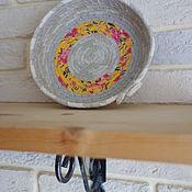 Для дома и интерьера handmade. Livemaster - original item Textile basket-plate. Handmade.