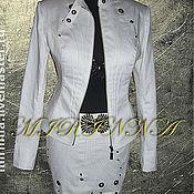 Одежда ручной работы. Ярмарка Мастеров - ручная работа костюм женский джинсовый. Handmade.