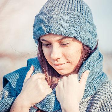 Одежда ручной работы. Ярмарка Мастеров - ручная работа Комплект: зимняя шапочка и шарф. Handmade.