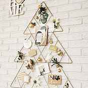 """Подвески ручной работы. Ярмарка Мастеров - ручная работа Елка на стену, настенная елка в стиле """"хюгге"""". Handmade."""
