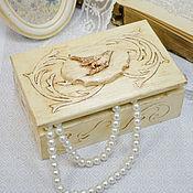 Для дома и интерьера ручной работы. Ярмарка Мастеров - ручная работа Шкатулка с птичкой. Handmade.