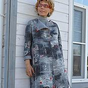 """Одежда ручной работы. Ярмарка Мастеров - ручная работа валяный кардиган """"Нескучный серый"""" Повтор. Handmade."""