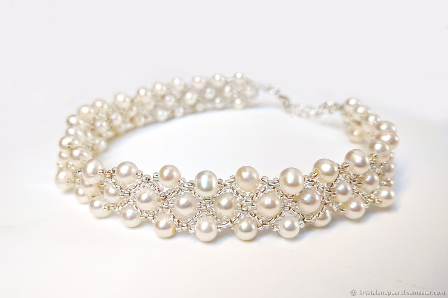 4eb9284b56db8 Crystal and Pearl Choker Multi Strand, Real Freshwater Pearl Collar – shop  online on Livemaster with shipping - F093XCOM   Budapest