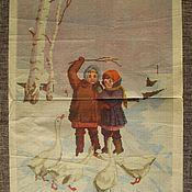 """Материалы для творчества ручной работы. Ярмарка Мастеров - ручная работа Схема для вышивки крестиком """"Дети"""",1958 г. Винтаж.. Handmade."""