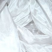 Аксессуары handmade. Livemaster - original item White scarf stole pressed silk women`s long Wide thin. Handmade.