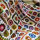 """Текстиль, ковры ручной работы. Ярмарка Мастеров - ручная работа. Купить Вязаный плед """"Солнечные зайчики"""". Handmade. Вязаный плед"""