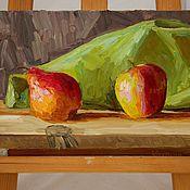"""Картины и панно ручной работы. Ярмарка Мастеров - ручная работа Картина маслом """"Натюрморт с фруктами"""". Handmade."""