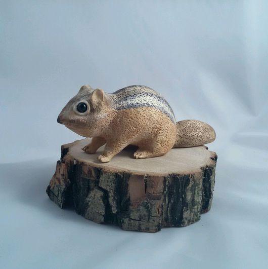 Игрушки животные, ручной работы. Ярмарка Мастеров - ручная работа. Купить Бурундук из дерева. Handmade. Бурундук, фигурки животных, дерево