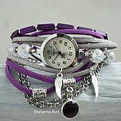 """Часы наручные ручной работы. Ярмарка Мастеров - ручная работа Красивые женские наручные часы с хрусталем """"Полет времени"""". Handmade."""
