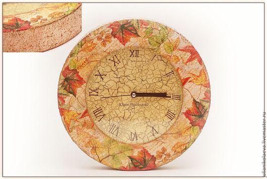 """Часы для дома ручной работы. Ярмарка Мастеров - ручная работа. Купить Часы """"Письма осени"""". Handmade. Часы, часы настенные"""