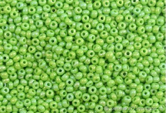 10 grams of 10/0 seed Beads, Czech Preciosa 54230 Premium green radue, Beads, Chelyabinsk,  Фото №1