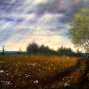 Картины и панно ручной работы. Ярмарка Мастеров - ручная работа Картина маслом . Пейзаж. После дождя. Handmade.