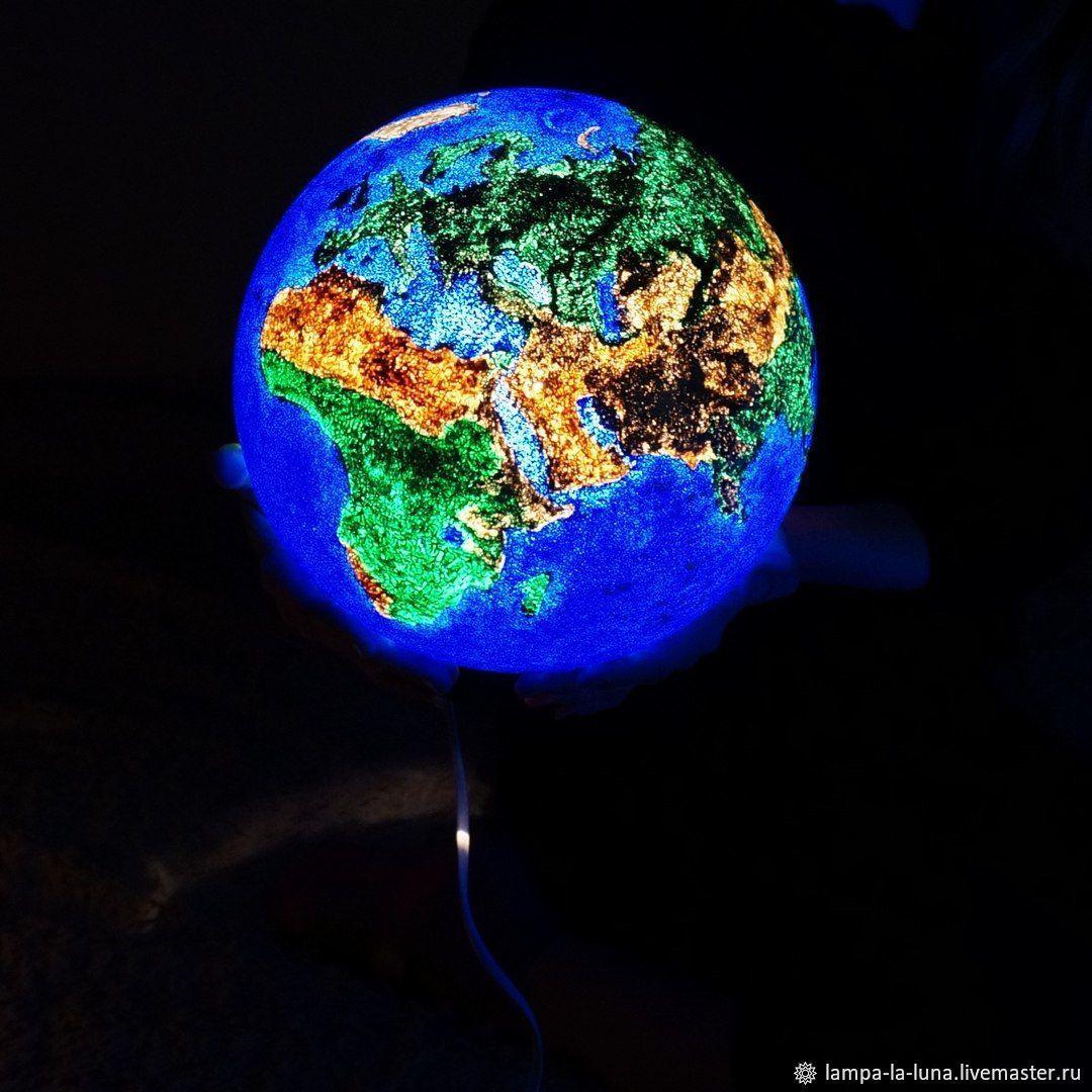 Светильник - Земля 25 см  (светильник планета, ночник), Светильники, Санкт-Петербург, Фото №1