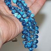 Материалы для творчества ручной работы. Ярмарка Мастеров - ручная работа Шпинель голубая бусины бриолеты 9-10+ мм ХК-054. Handmade.