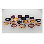 Украшения handmade. Livemaster - original item Wooden rings.. Handmade.