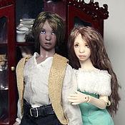 Куклы и игрушки ручной работы. Ярмарка Мастеров - ручная работа ЗАКАЗ ОТКРЫТ! Миниатюрная шарнирная кукла. Парочка масштаба 1/12. Handmade.
