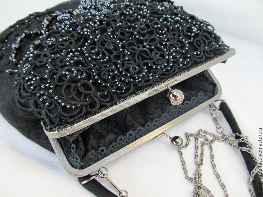 f16c527254afcd Elena Shaboltas ( Bag Accessories handmade. Order Lace 'The Mystery Of Coco  Chanel'.